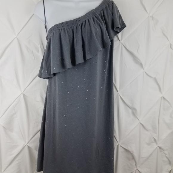 977a1e040253 Juicy Couture One shoulder M dress silver sparkle